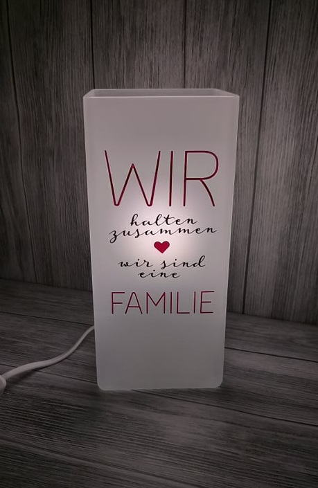 Lampe - Spruch Familie